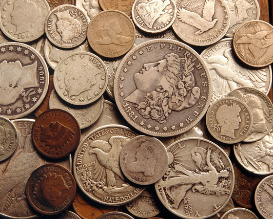 collection of antique United States coins