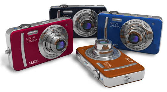 colorful digital cameras
