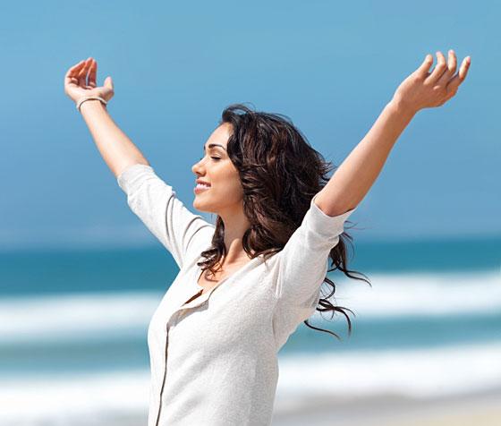 young woman enjoying good health