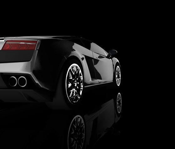 sports car on a black background